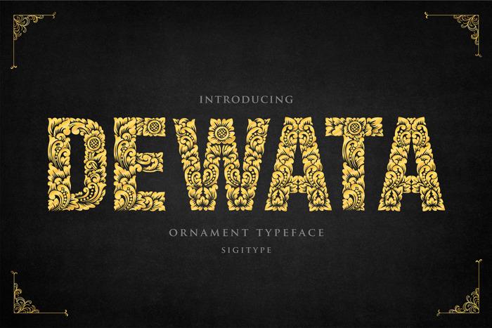 Dewata Font poster