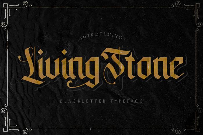 livingstone Font poster