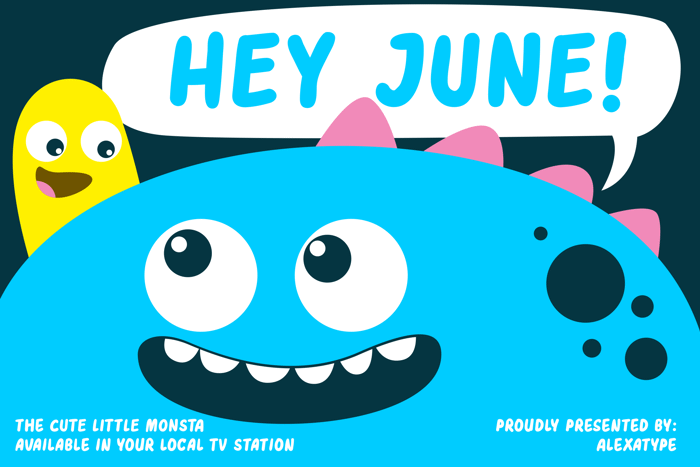 HEY JUNE Font poster