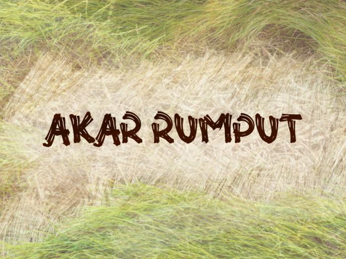 a Akar Rumput Font poster