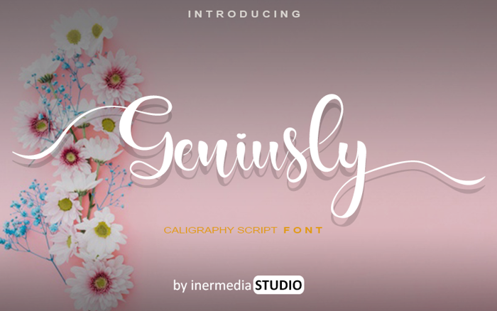 Geniusly Font poster