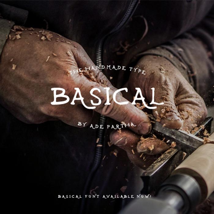 Basical Font poster