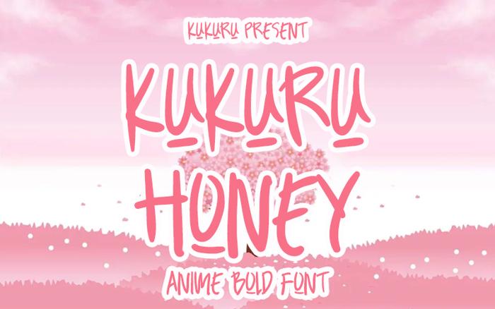 KUKURU HONEY Font poster