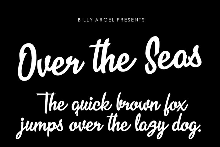 Over the Seas Font poster