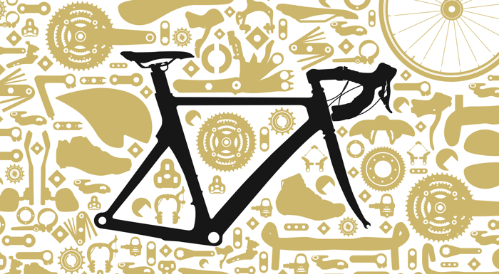 TT Road Bike Font poster