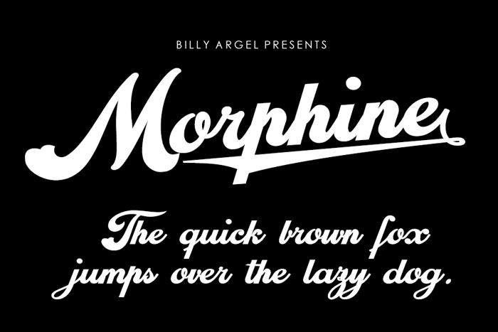 Morphine Font poster