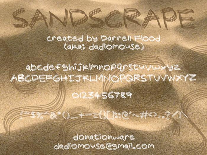 Sandscrape Font