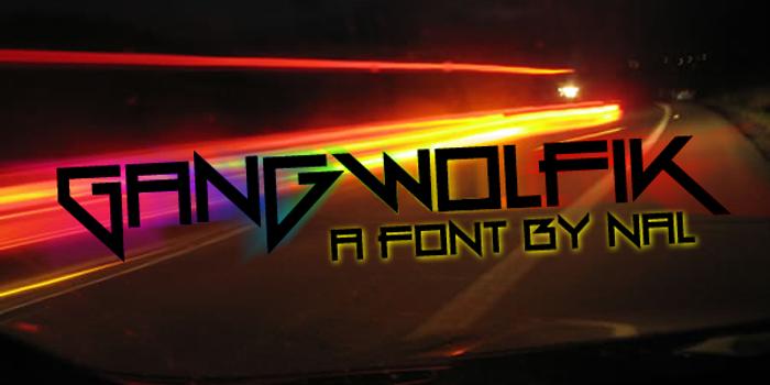 Gang Wolfik Font poster