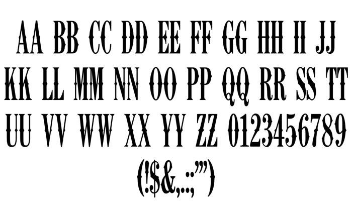 K22 Ambelyn Condensed Font poster