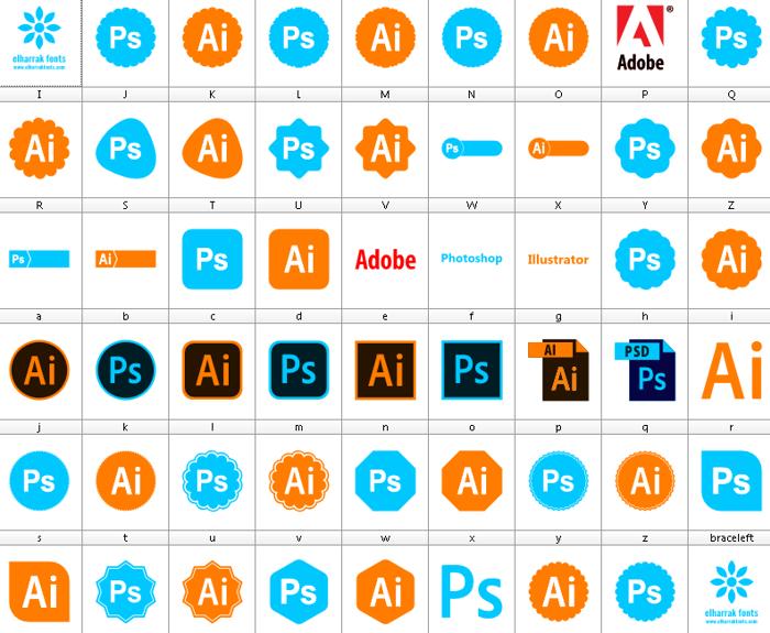 Font Photoshop Illustrator poster