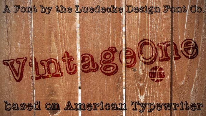 VintageOne Font poster