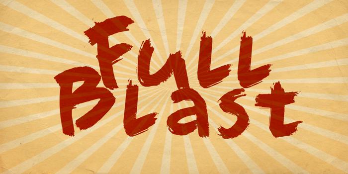 DK Full Blast Font poster