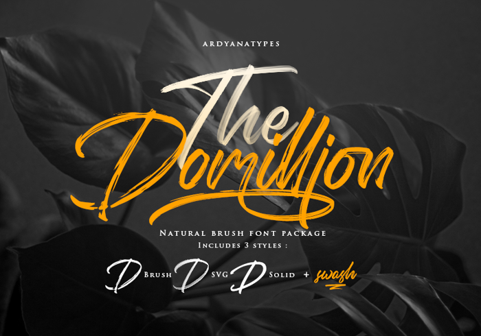 Domillion Brush Free Font poster