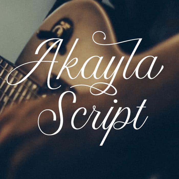 Akayla Script Font poster
