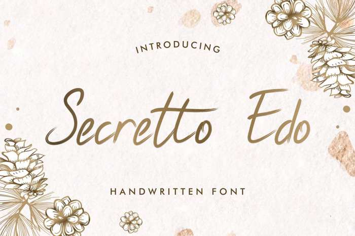 Secretto Edo Font poster
