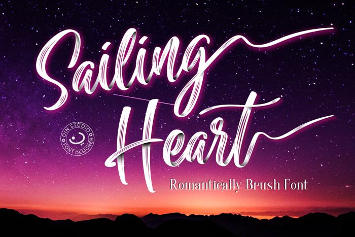 Sailing Heart Font poster