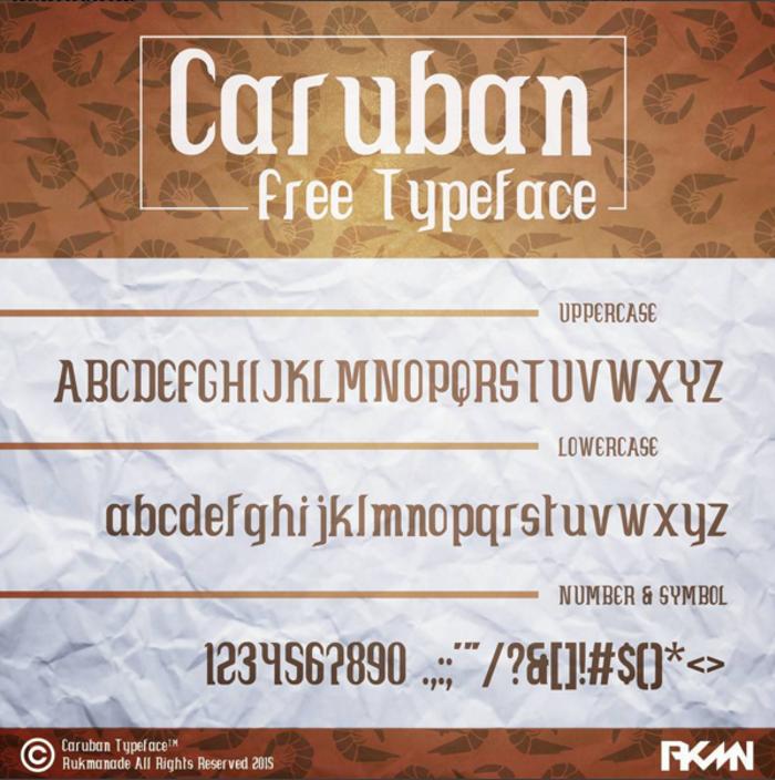Caruban Font