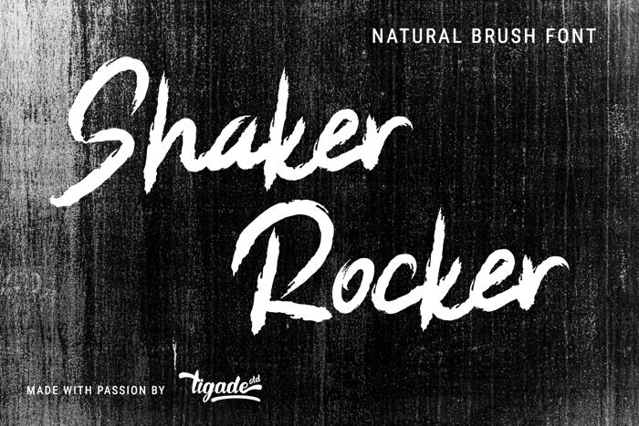 Shaker Rocker Font poster
