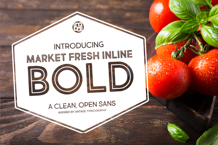 Market Fresh Inline Bold Font poster