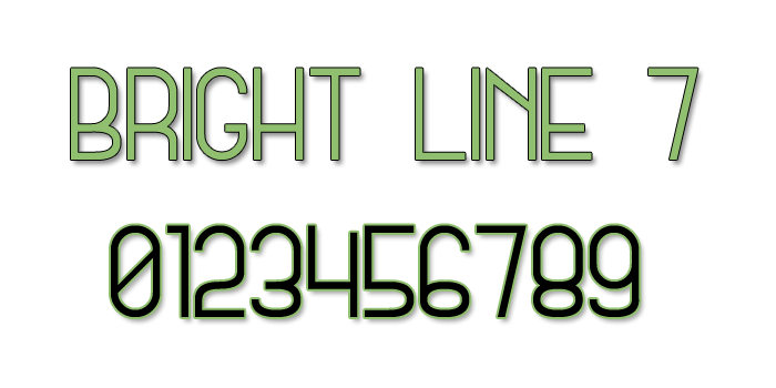 Bright Line 7 Font poster