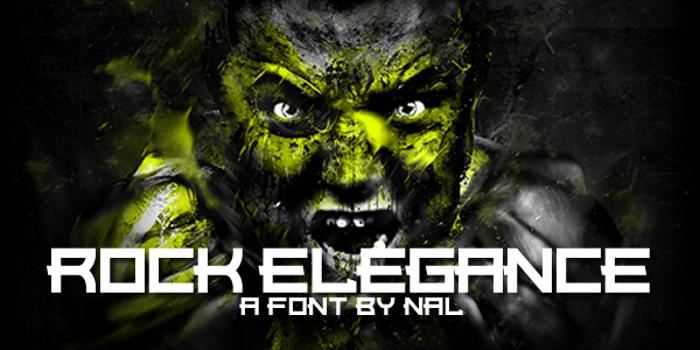 Rock Elegance Font poster
