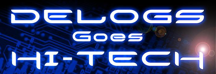 Delogs Goes Hi-Tech Font poster
