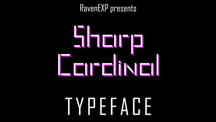 Sharp Cardinal Font poster