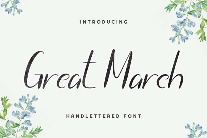 Great March Font poster