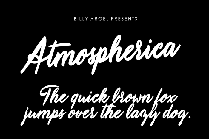 Atmospherica Font poster