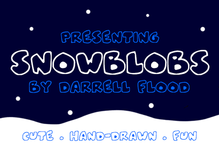 Snowblobs Font poster