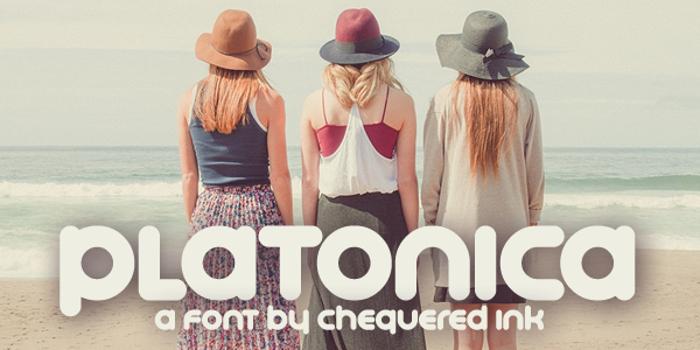Platonica Font poster