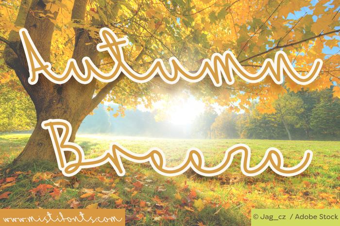 Mf Autumn Breeze Font poster