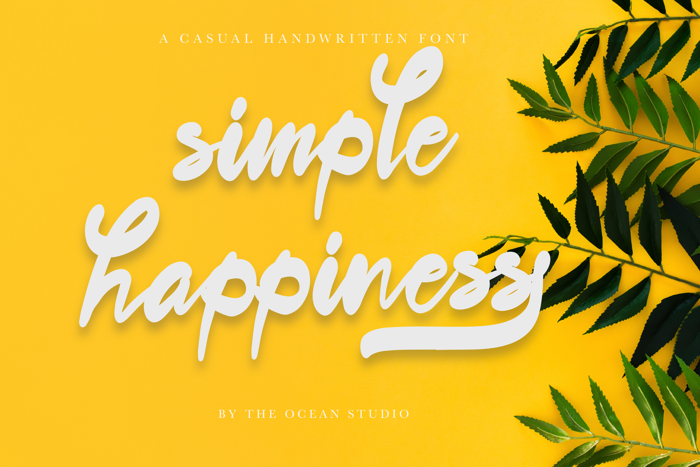 The Simple Happiness Script Font poster