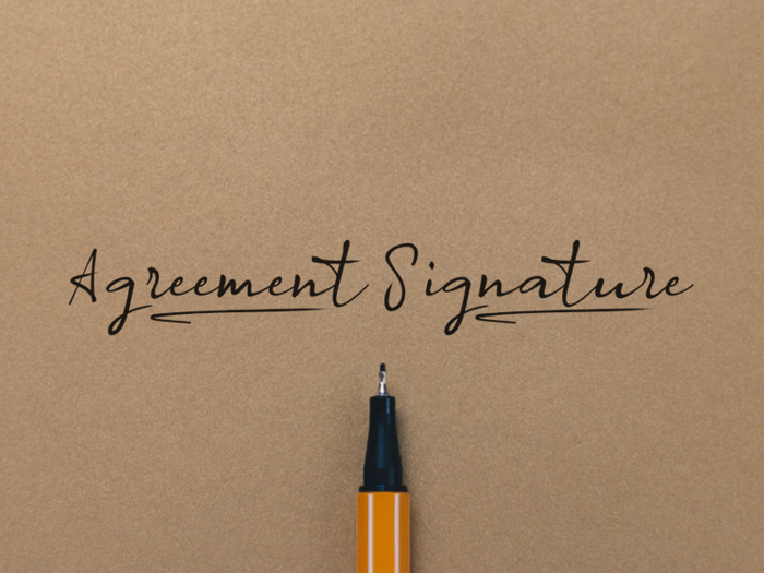 a Agreement Signature Font poster