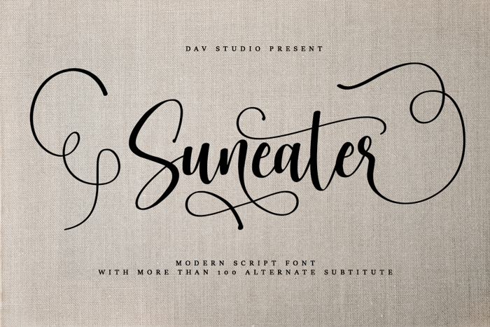 Suneater Font poster