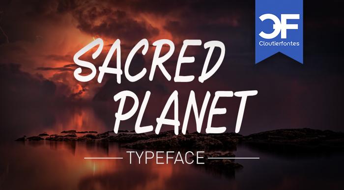 CF Sacred Planet Font poster
