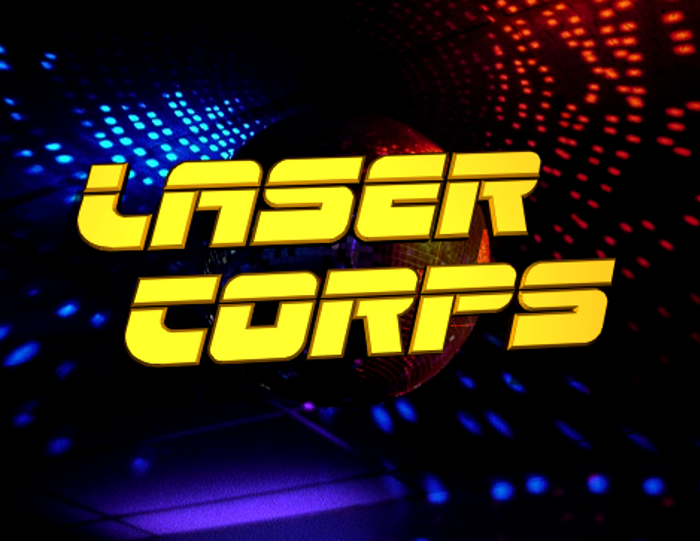 Laser Corps Font poster