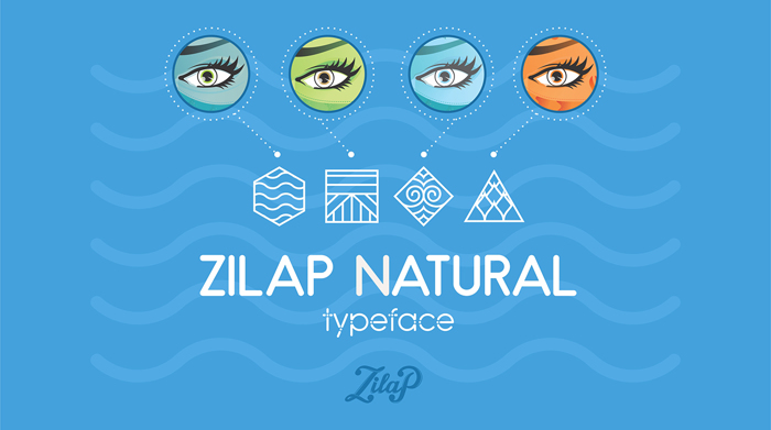 Zilap Natural Font poster