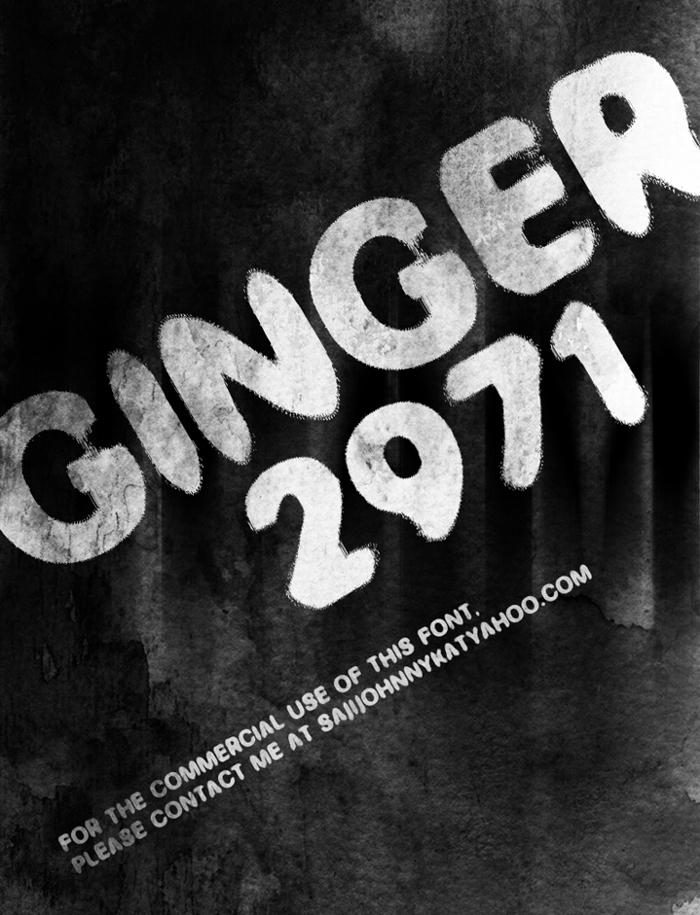 GINGER 2971 Font poster