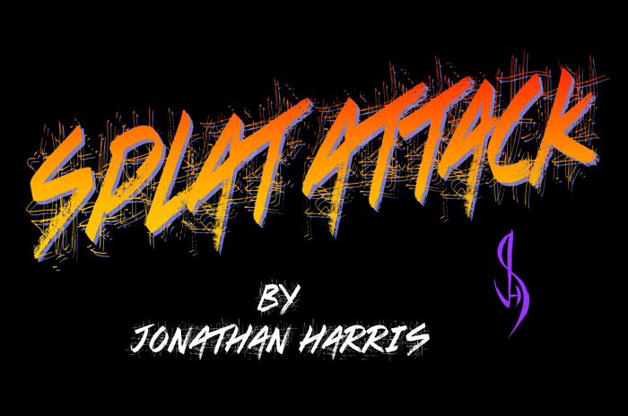 Splat Attack Font poster