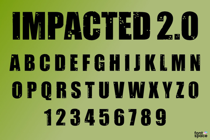 Impacted Font poster