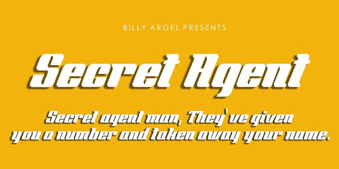 Secret Agent Font poster