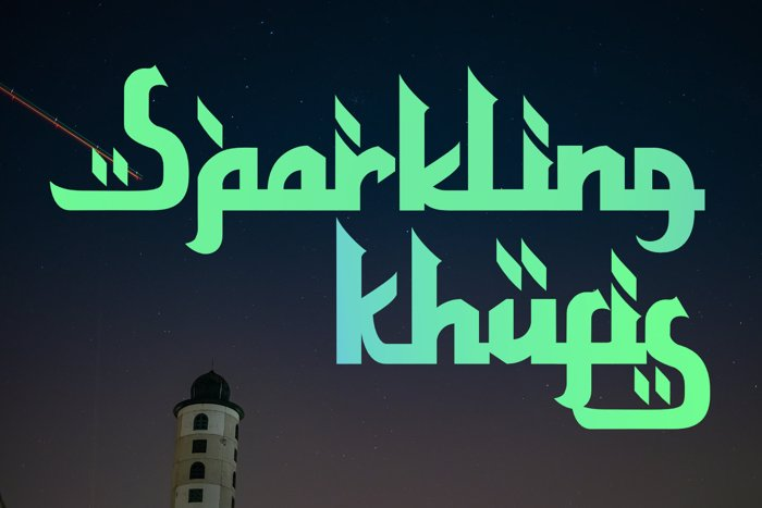 Sparkling Khufis Font poster