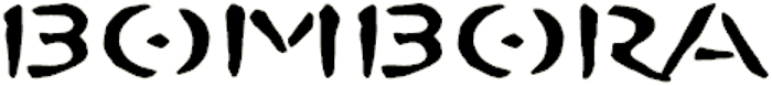 BOMBORA Font poster