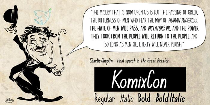 KomixCon Font poster