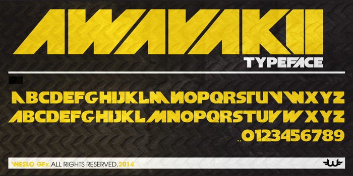 aWavakii Font poster