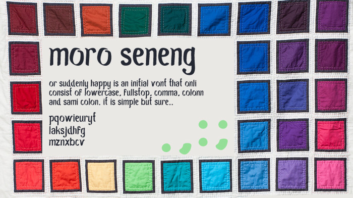 Moro Seneng Font poster