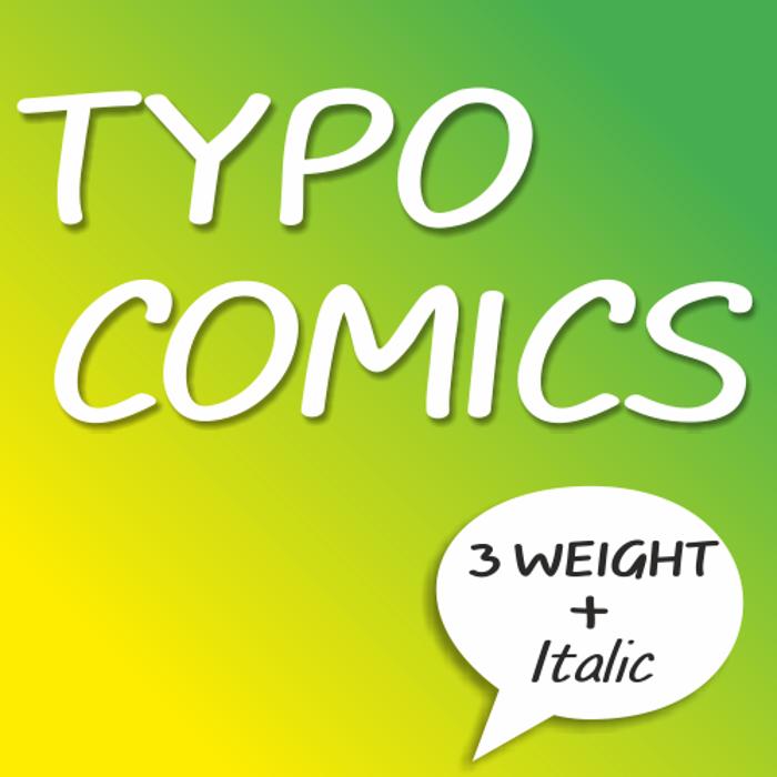 TYPO COMICS DEMO Font poster