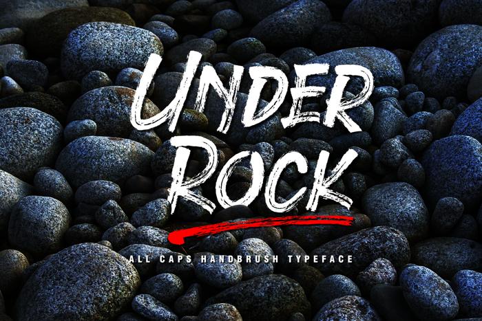Under Rock Font poster