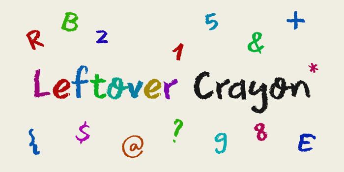 DK Leftover Crayon Font poster